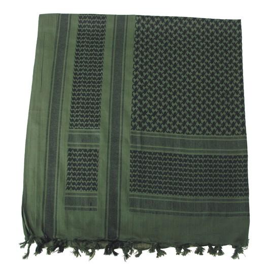 OBLEČENÍ-Šátek Palestina s třásněmi - černá-olivová