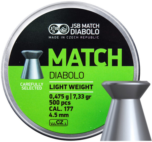 DIABOLO / BROKY BB-Diabolo Match pistole 500ks cal.4,5mm
