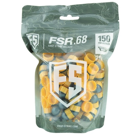 FIRST STRIKE-150 ROUNDS FIRST STRIKE PAINTBALLS BAG (GRAY / YELLOW)
